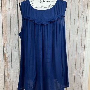 Women's Blouse Blue Sleeveless XLT